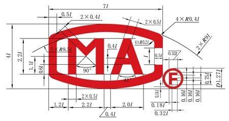 标志的整个图形由字母cma和 组成.