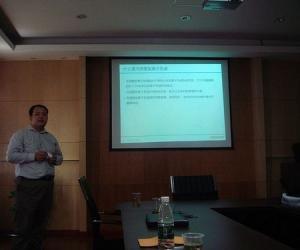 戴安公司产品部经理刘肖在发言
