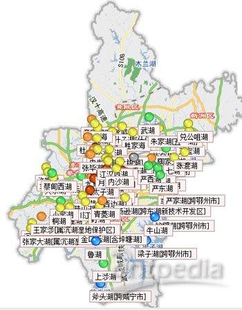 """武汉发布""""湖泊水质地图"""""""