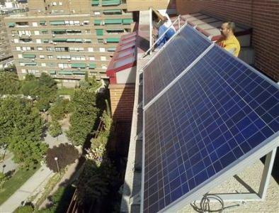 楼房高层太阳能电池板