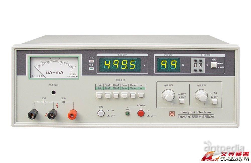 同惠TH2687C电解电容漏电流测试仪