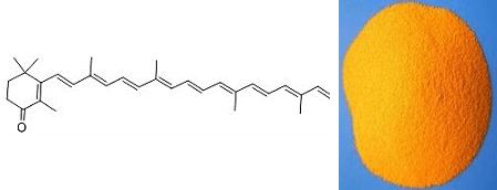 斑蝥黄质及其分子结构式