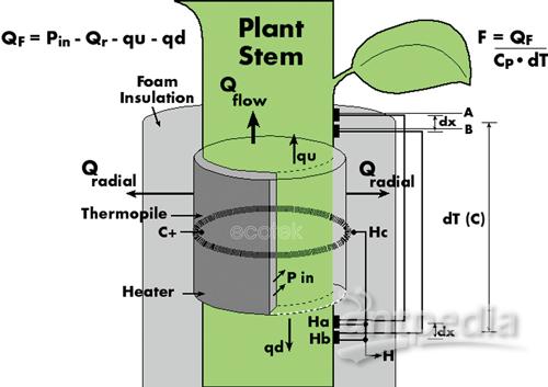 包裹式植物茎流计